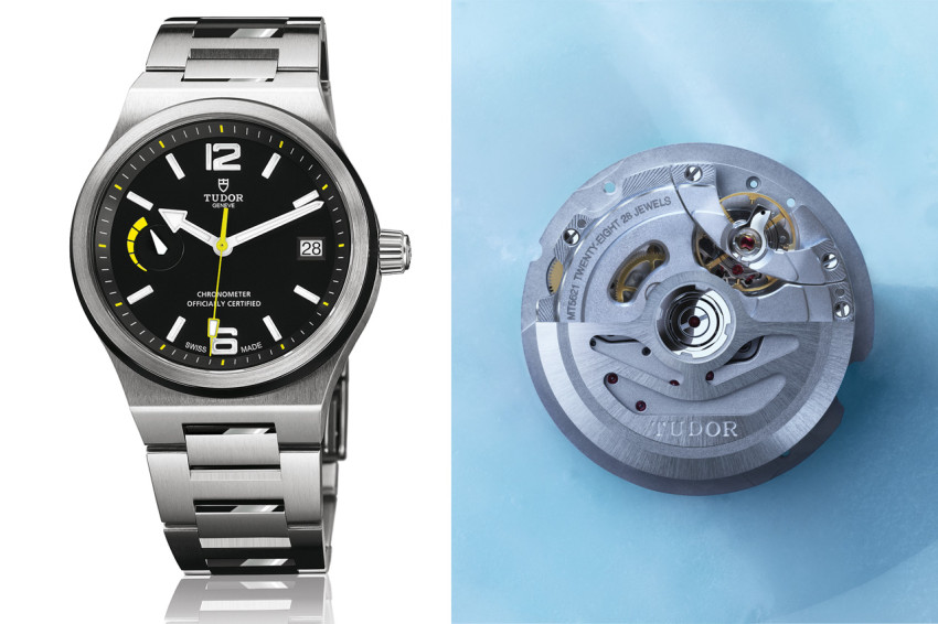 The Tudor North Flag is powered by the new in-house MT5621 calibre.
