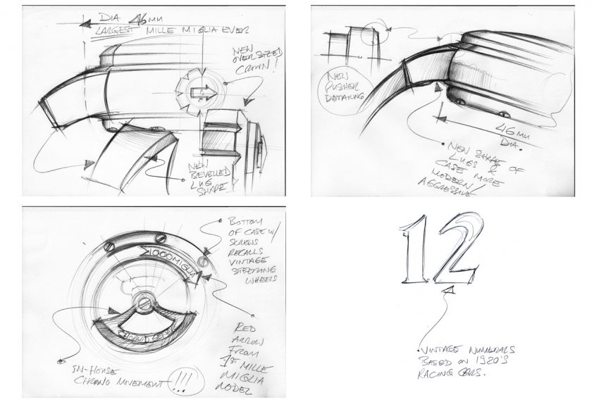 Sketches of the Chopard Mille Miglia 2016 XL Race Edition