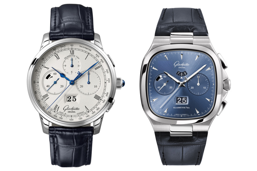 Glashütte Original Calibre 37 makes its debut with the dressy Senator Chronograph Panorama Date and the vintage inspired Seventies Chronograph Panorama Date.