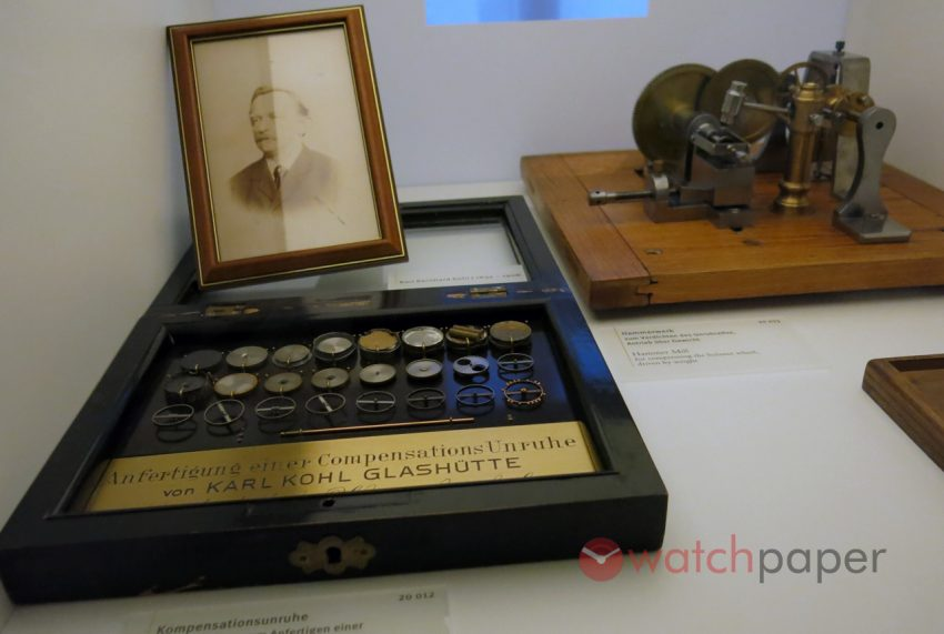 One of the first students of Adolf Lange, Bernhard Carl Kohl opened his workshop in 1849. He is the inventor of balance wheels with gold weighted screws, and slotted screw threads.