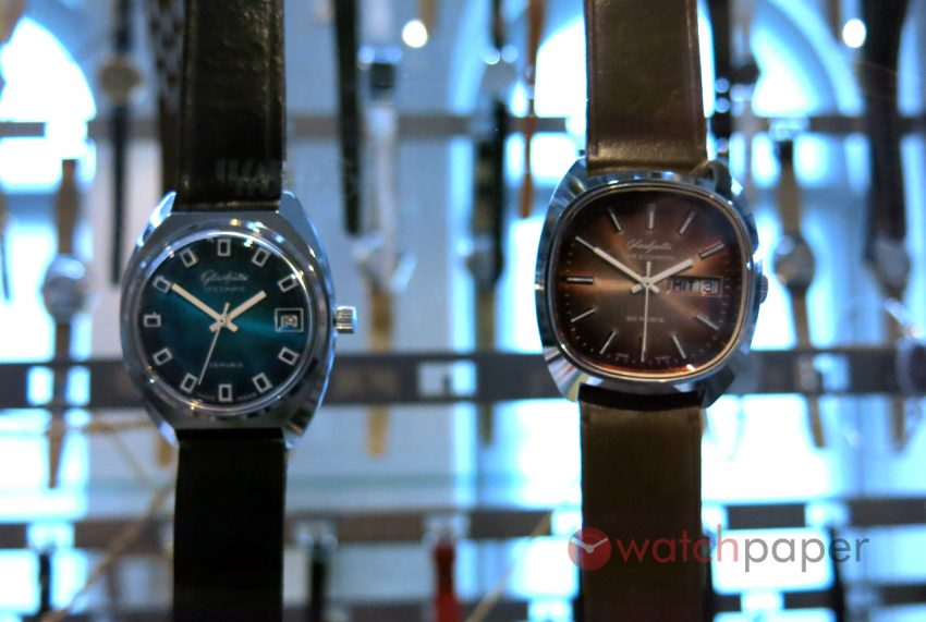 Glashütte Spezimatic and Spezichron from the 1970's at the Museum of German Watchmaking Glashütte